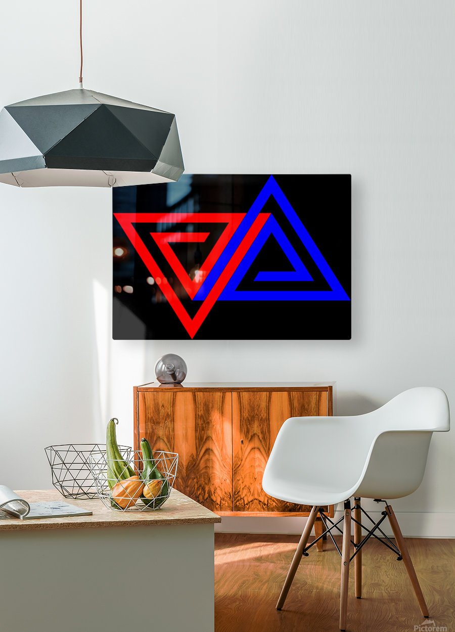 Halimessa - connected triangles  HD Metal print with Floating Frame on Back