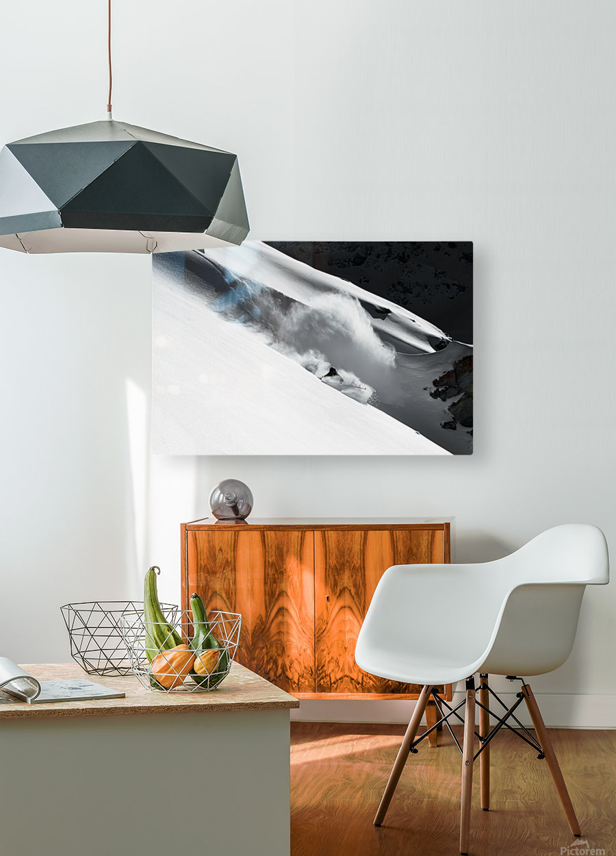 Cloud of Snow  HD Metal print with Floating Frame on Back