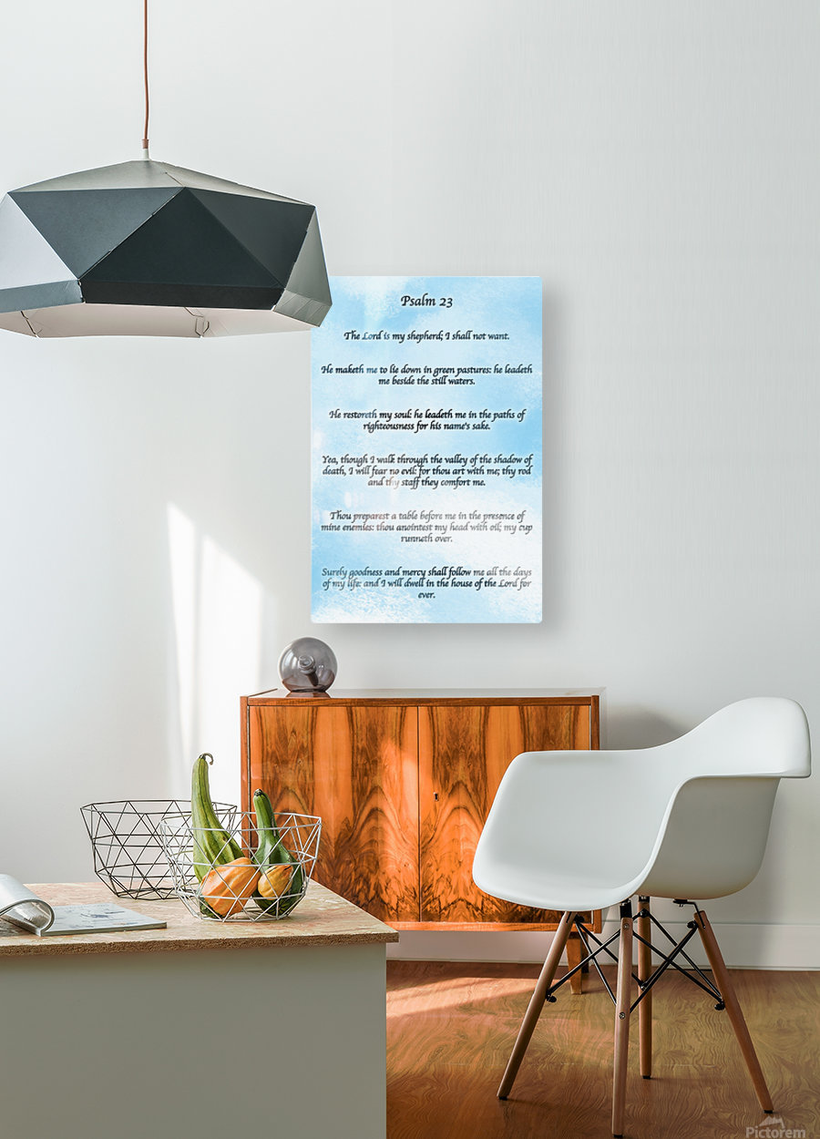 Psalm 23 Clouds  HD Metal print with Floating Frame on Back