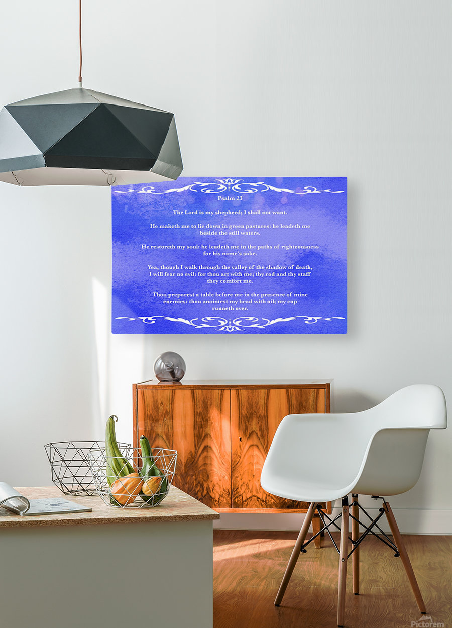 Psalm 23 3BL  HD Metal print with Floating Frame on Back