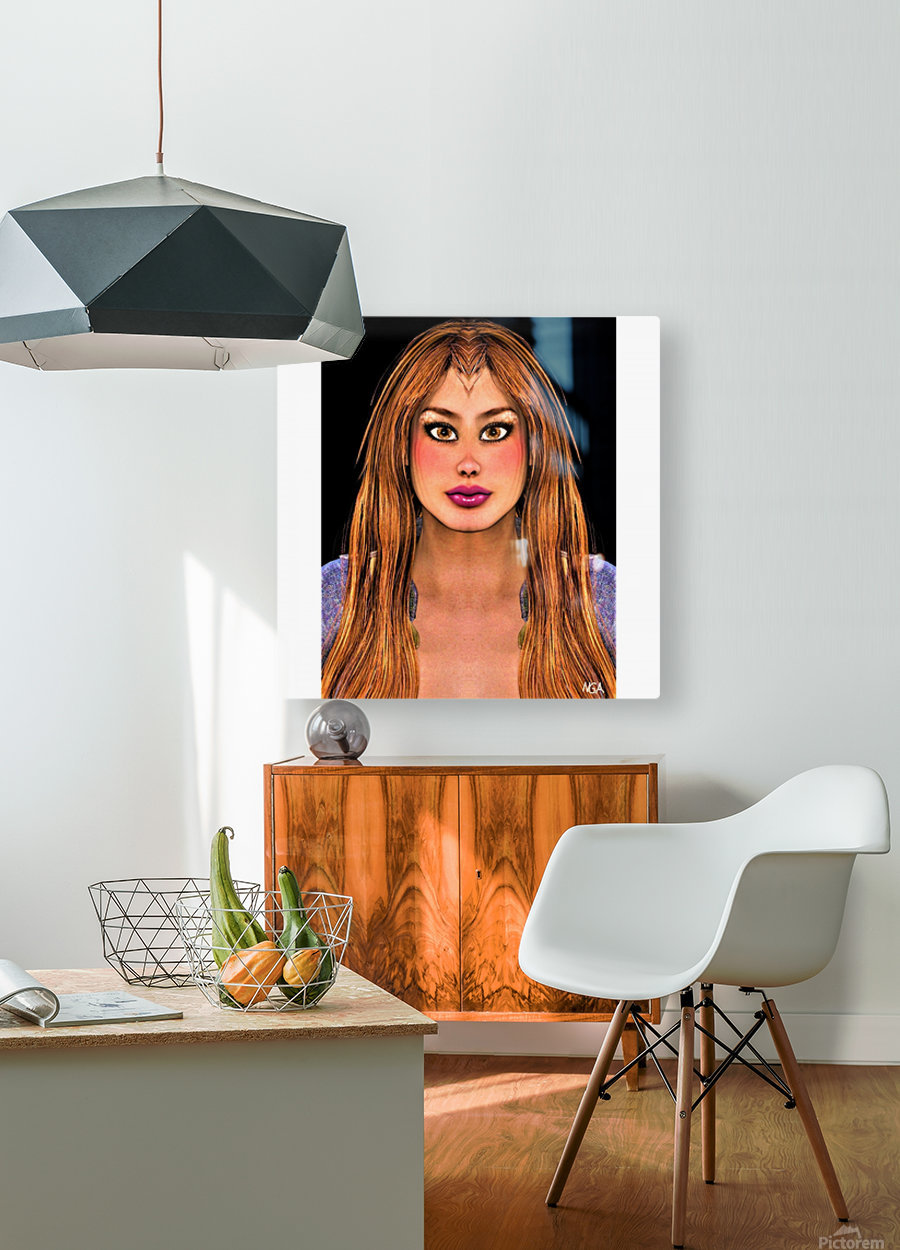 Brown Eyes - square format with with blank side border by Neil Gairn Adams  HD Metal print with Floating Frame on Back