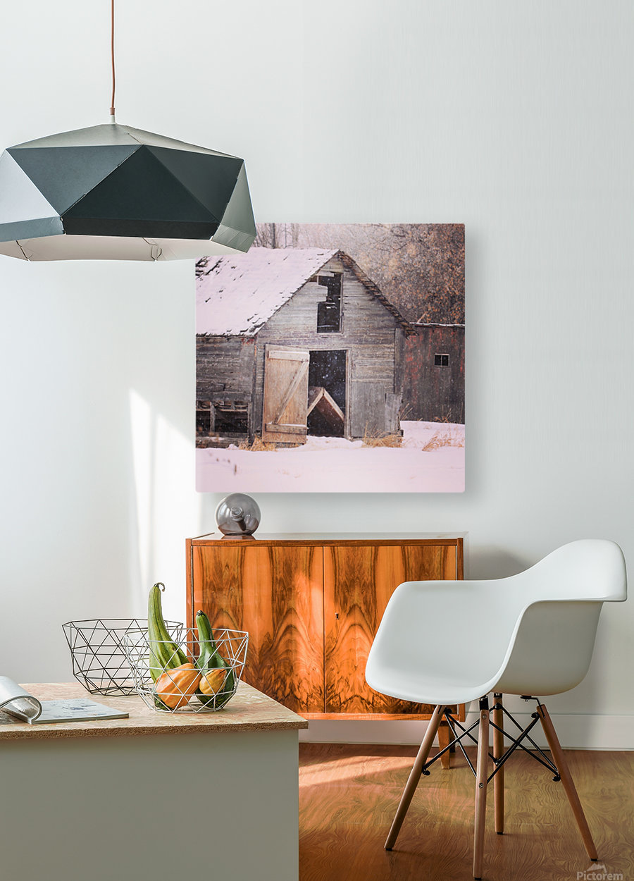 Barnboard  HD Metal print with Floating Frame on Back