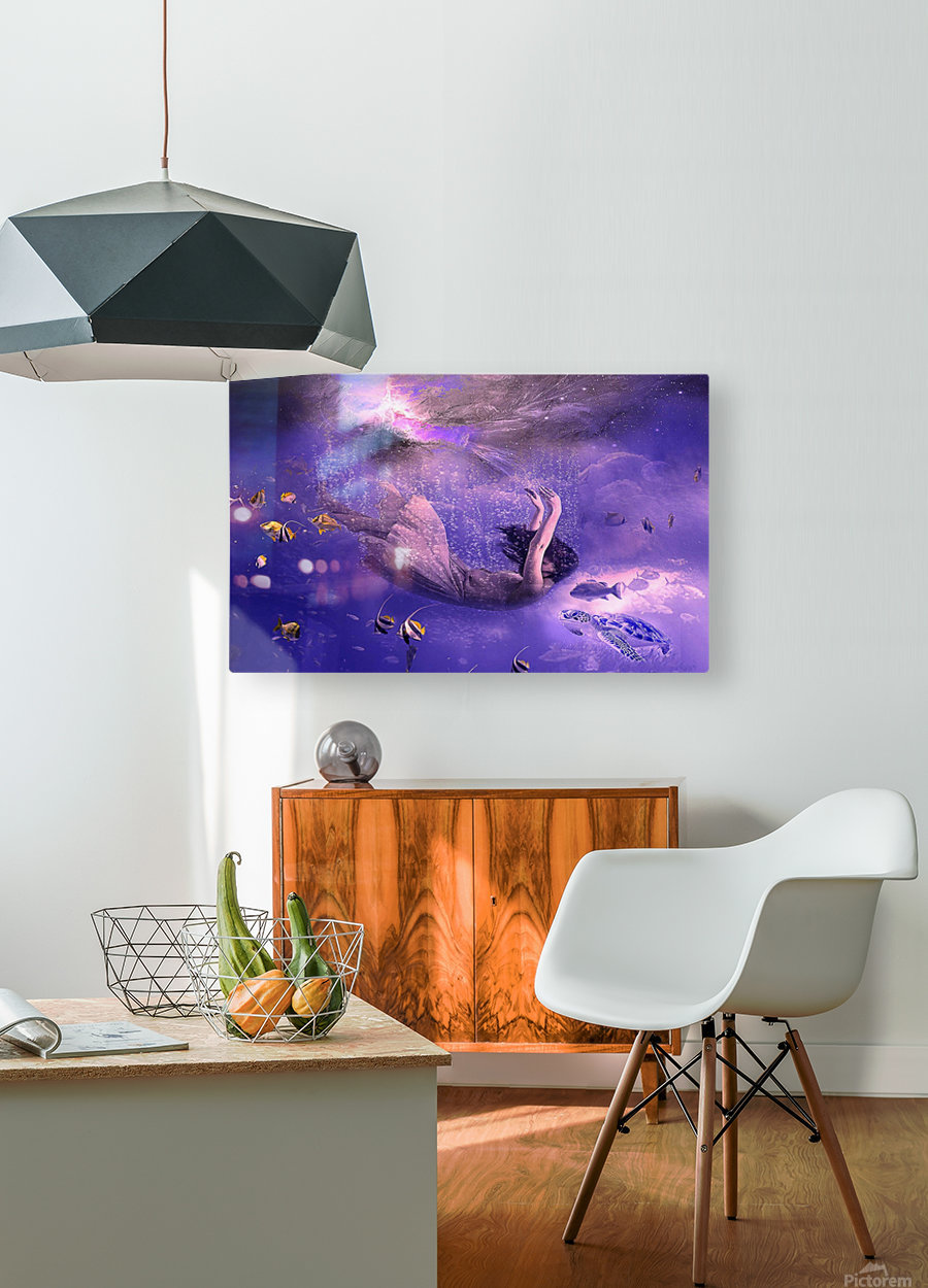 Deep relax  HD Metal print with Floating Frame on Back
