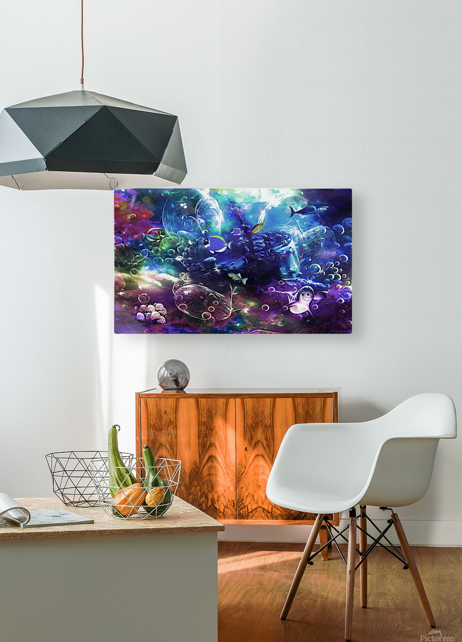 Deep sea 1  HD Metal print with Floating Frame on Back