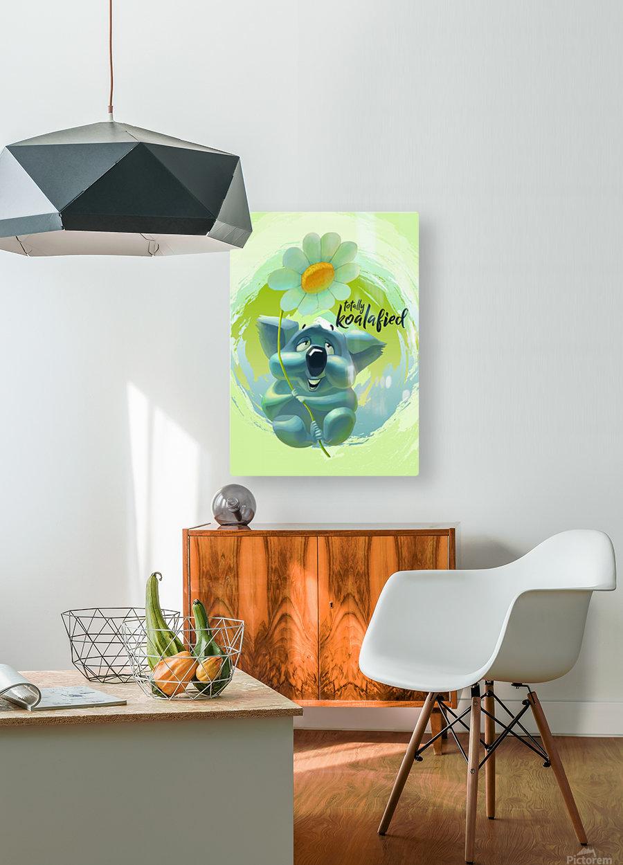 Cute Koala  HD Metal print with Floating Frame on Back
