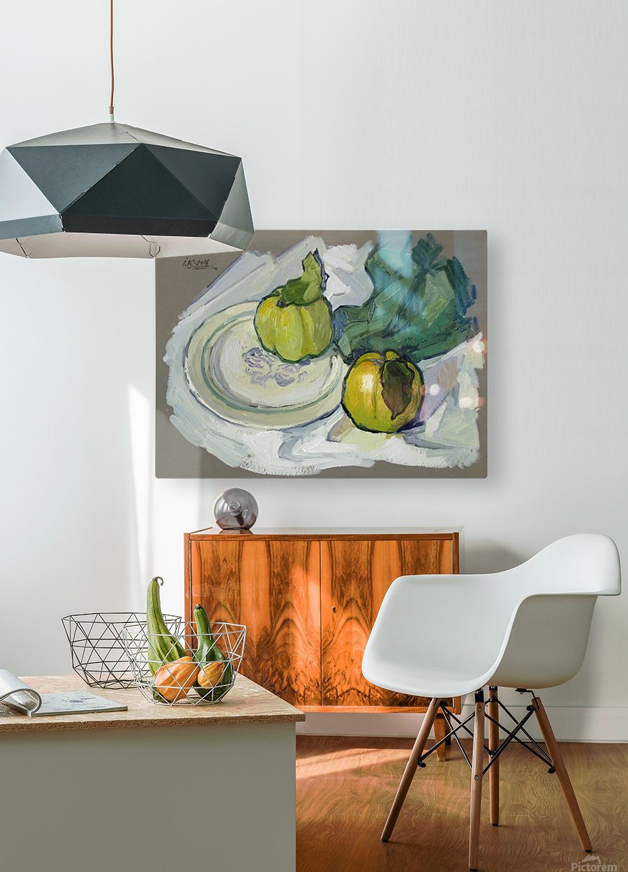 Still Life with Quince  HD Metal print with Floating Frame on Back