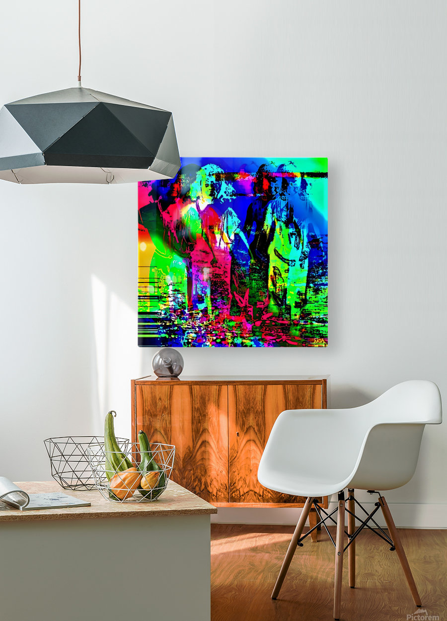 Strange Bedfellows -  by Neil Gairn Adams  HD Metal print with Floating Frame on Back
