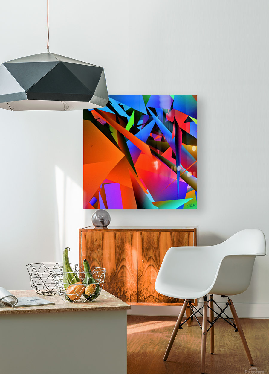 Dimensions -  bY Neil Gairn Adams   HD Metal print with Floating Frame on Back