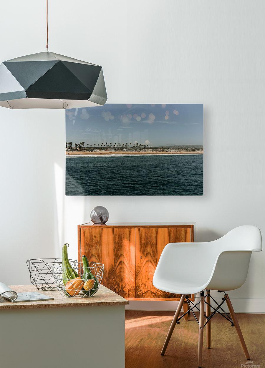 Newport Beach California  Impression métal HD avec cadre flottant sur le dos