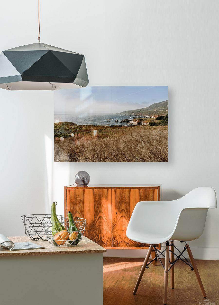 California Coast  Impression métal HD avec cadre flottant sur le dos