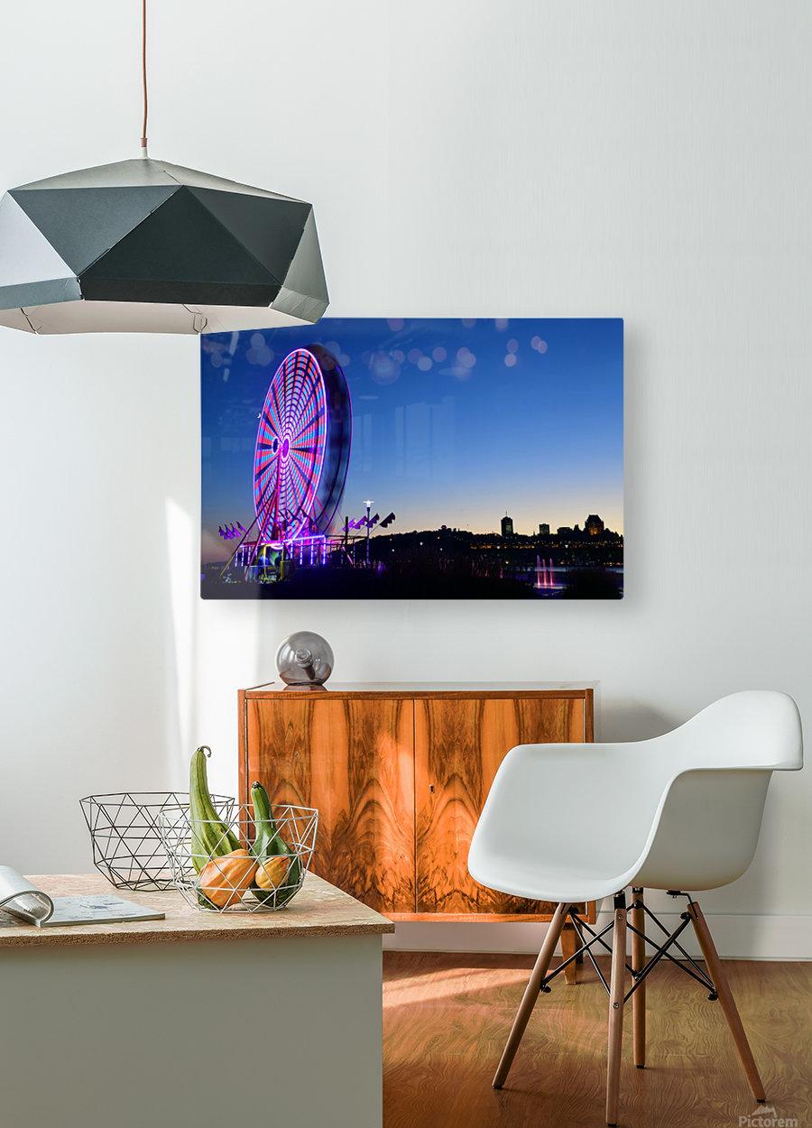 La Grande Roue  HD Metal print with Floating Frame on Back
