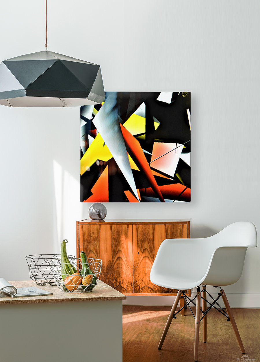 More Shapes -  by Neil Gairn Adams   HD Metal print with Floating Frame on Back
