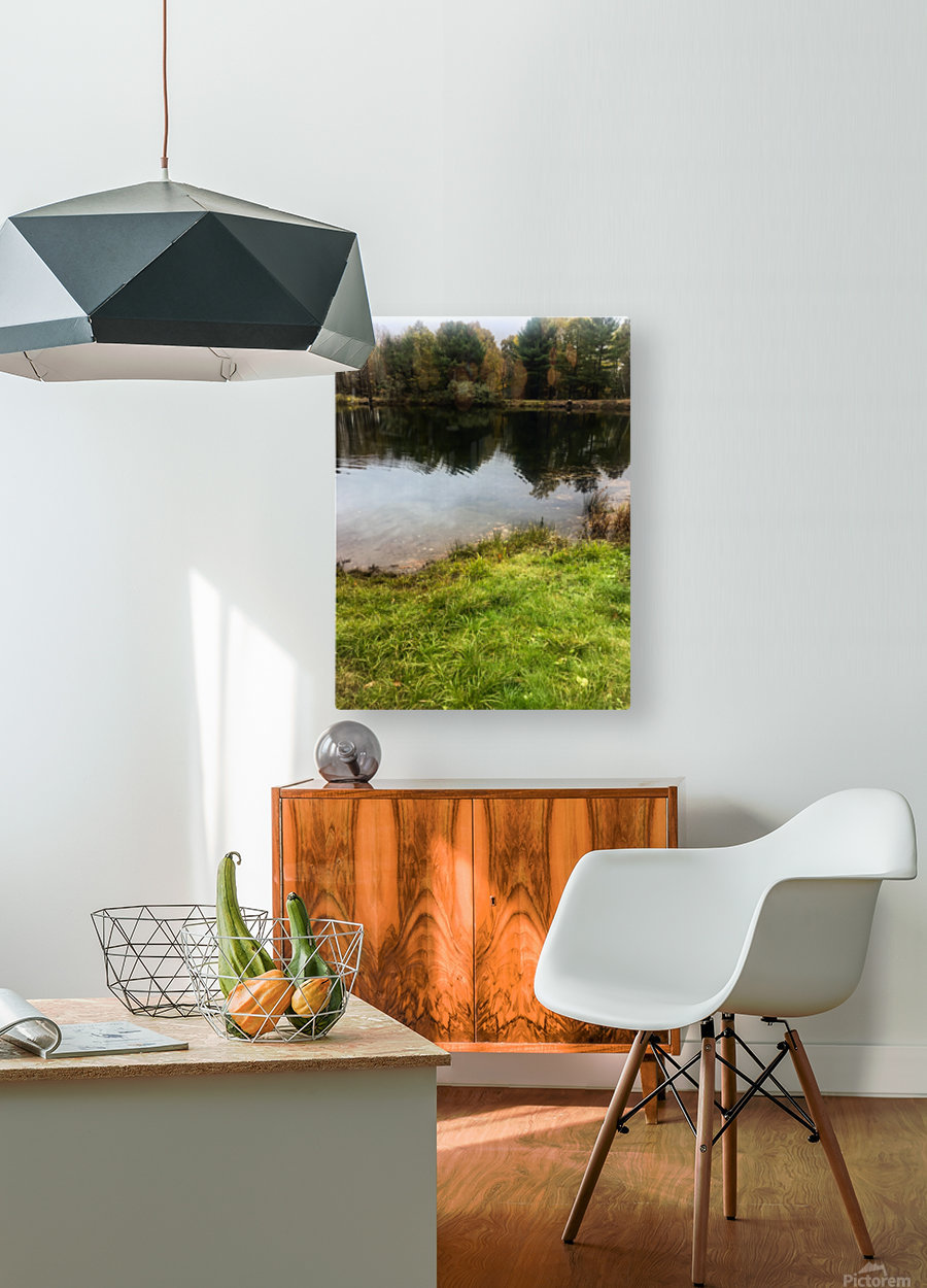 FALL RETREAT  HD Metal print with Floating Frame on Back