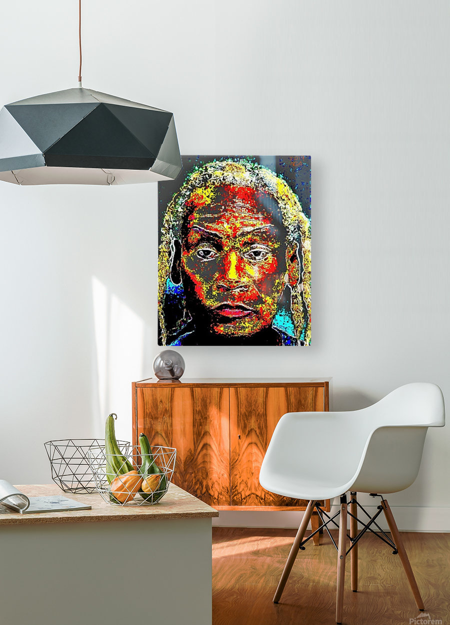 The Man - by Neil Gairn Adams  HD Metal print with Floating Frame on Back