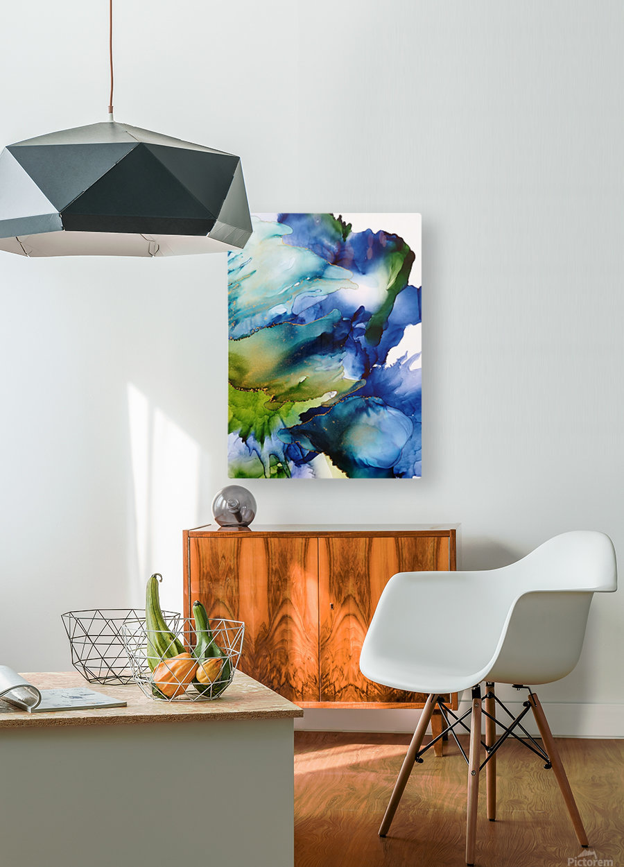 Heart of the Ocean  HD Metal print with Floating Frame on Back