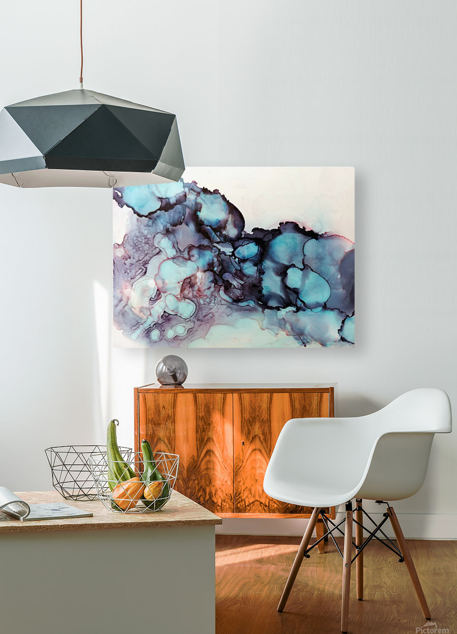 Turquoise Dream  HD Metal print with Floating Frame on Back