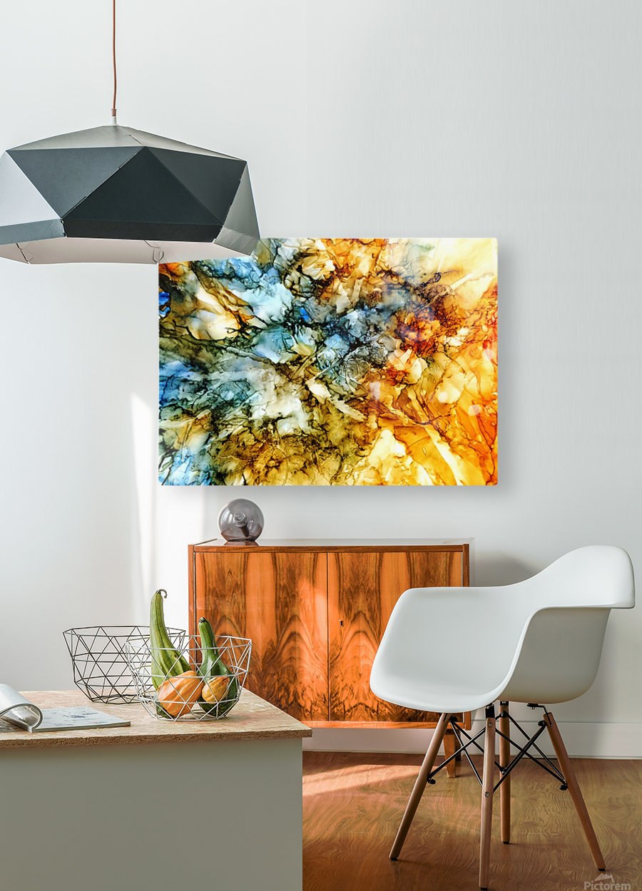 Sediment  HD Metal print with Floating Frame on Back