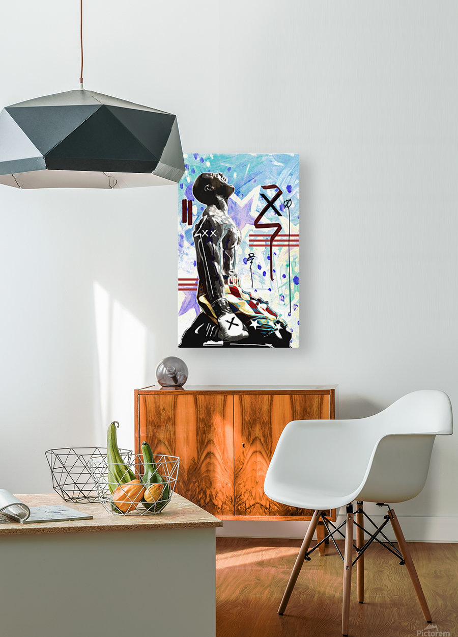Fighter  HD Metal print with Floating Frame on Back