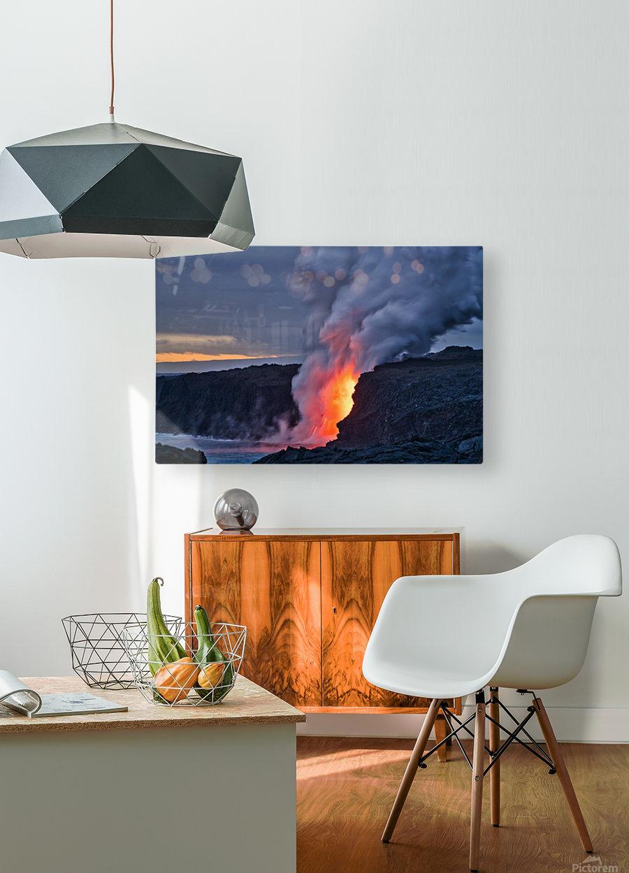 Lava hose  HD Metal print with Floating Frame on Back