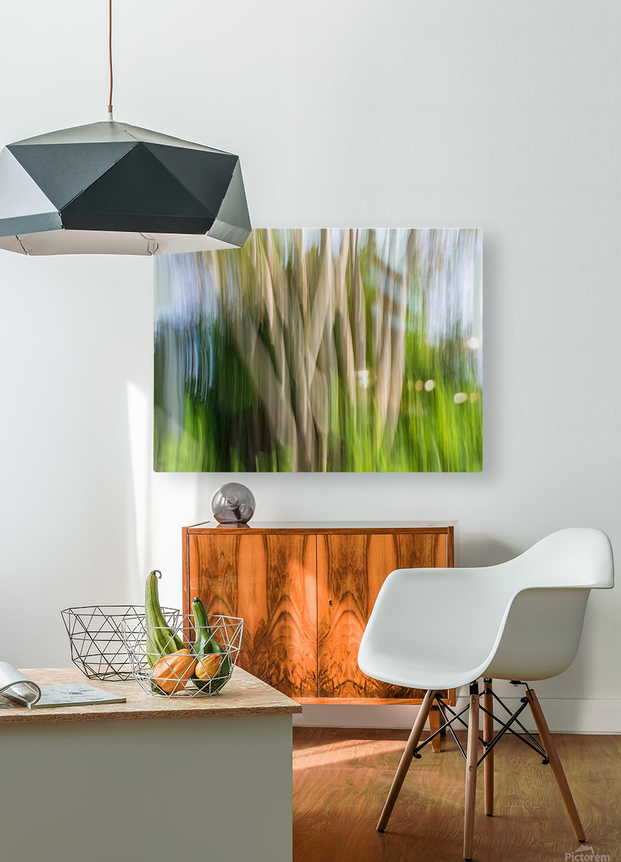Moving Trees 30 Landcape 52 70 200px  HD Metal print with Floating Frame on Back