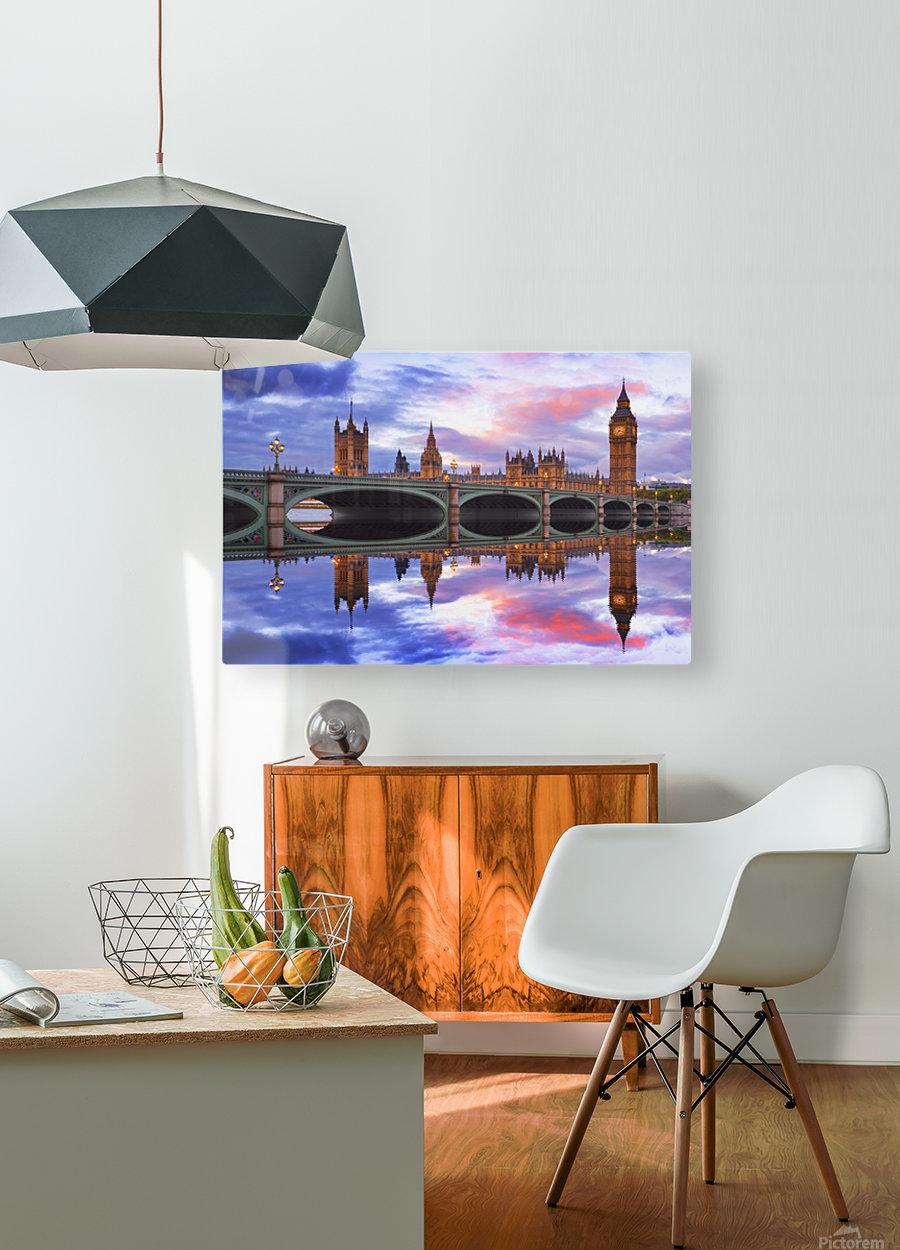 LON 005 Big Ben   HD Metal print with Floating Frame on Back