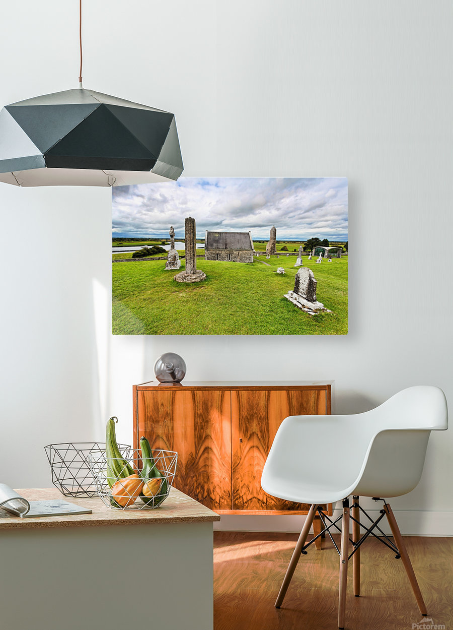 OY 002 Clonmacnoise  HD Metal print with Floating Frame on Back