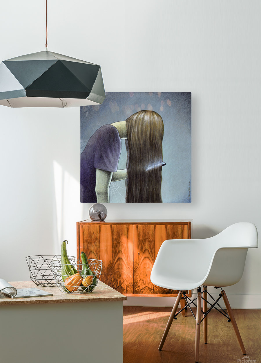 hair  HD Metal print with Floating Frame on Back
