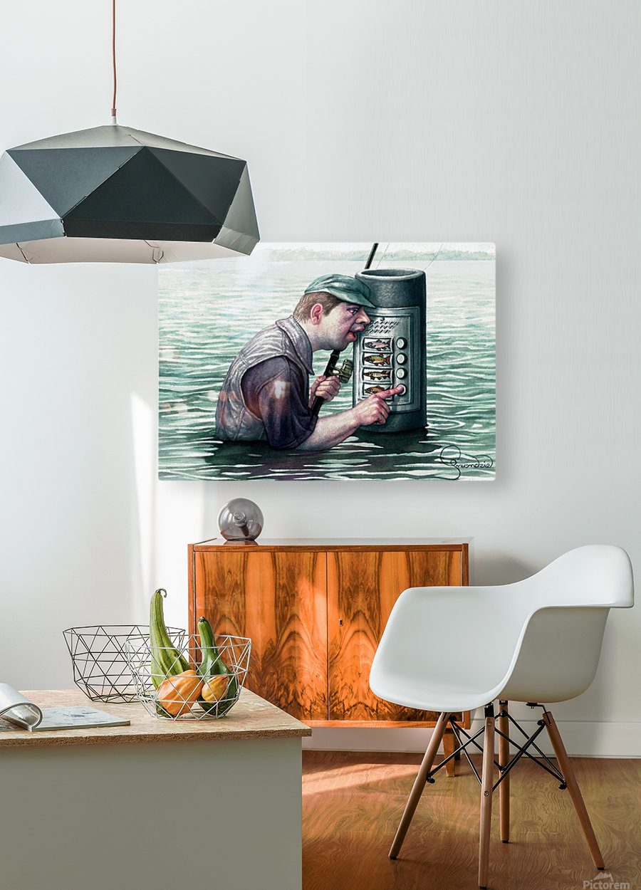 Call for fish by Krzysztof Grzondziel  HD Metal print with Floating Frame on Back