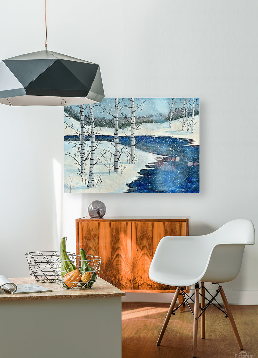 Winter Blues  HD Metal print with Floating Frame on Back