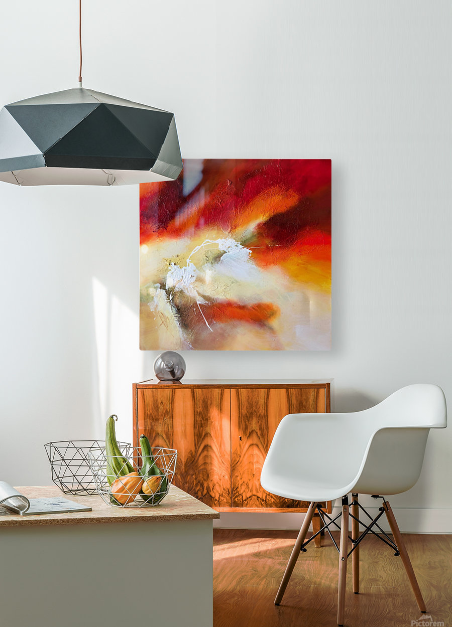 Feeling the heat  HD Metal print with Floating Frame on Back