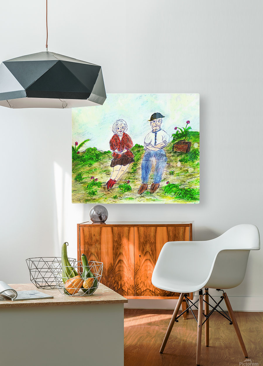 Our 200th Picnic  HD Metal print with Floating Frame on Back