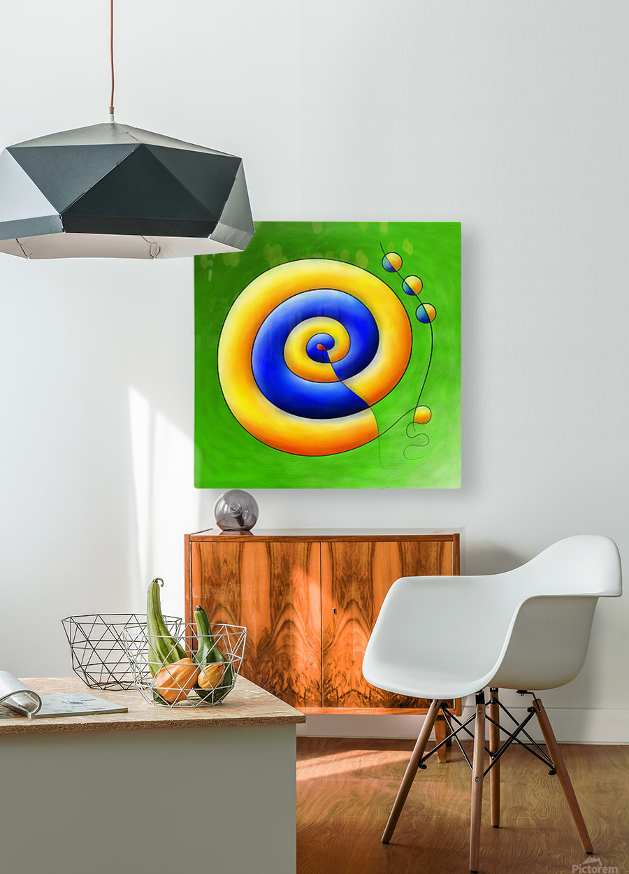 Neosmirana - running space snail  HD Metal print with Floating Frame on Back