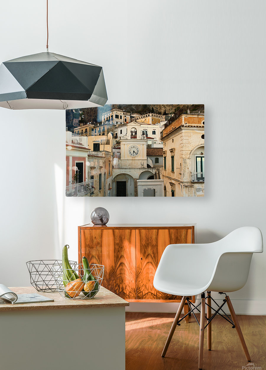 Church Clock - Italy   Impression métal HD avec cadre flottant sur le dos