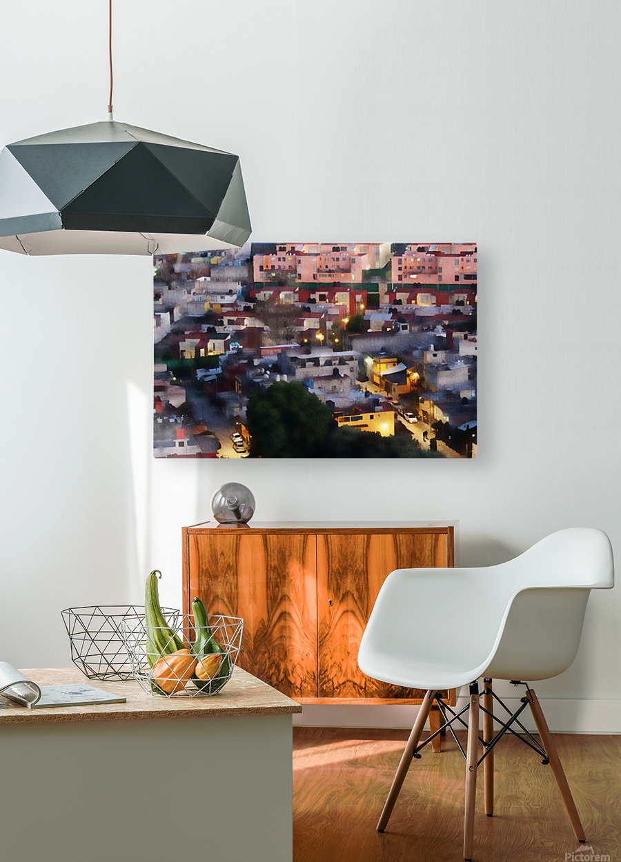 Town rendering  HD Metal print with Floating Frame on Back