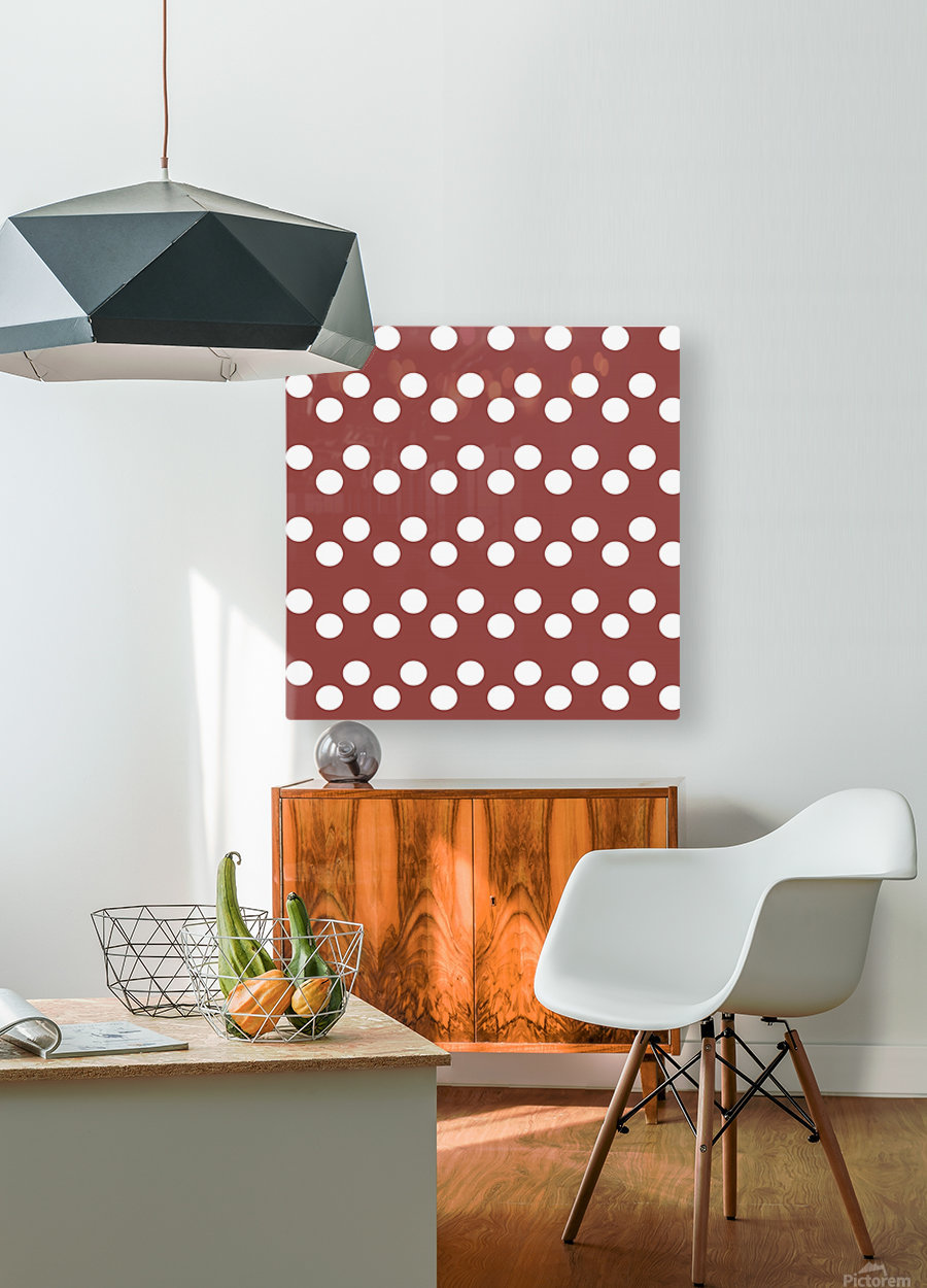 Chili Oil Polka Dots  HD Metal print with Floating Frame on Back