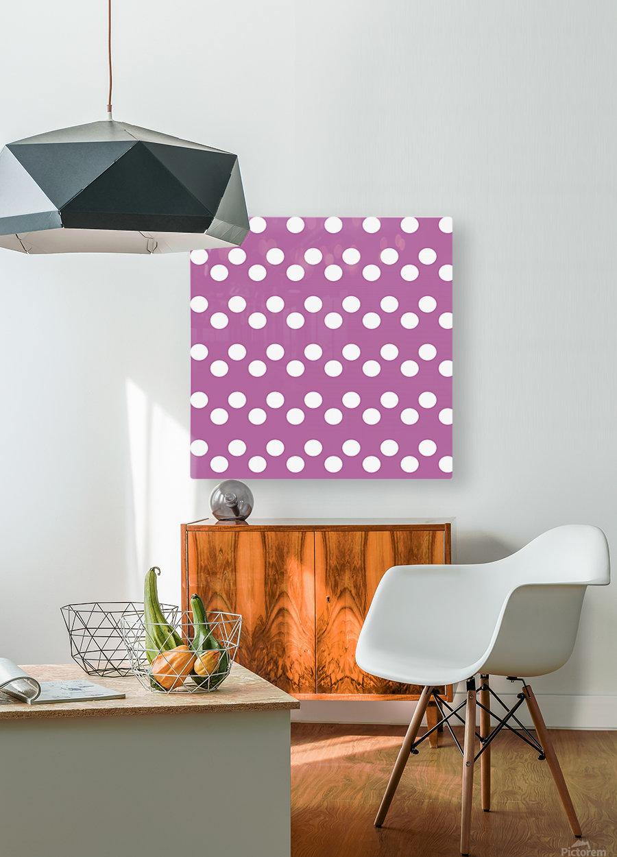 Bodacious Polka Dots  HD Metal print with Floating Frame on Back