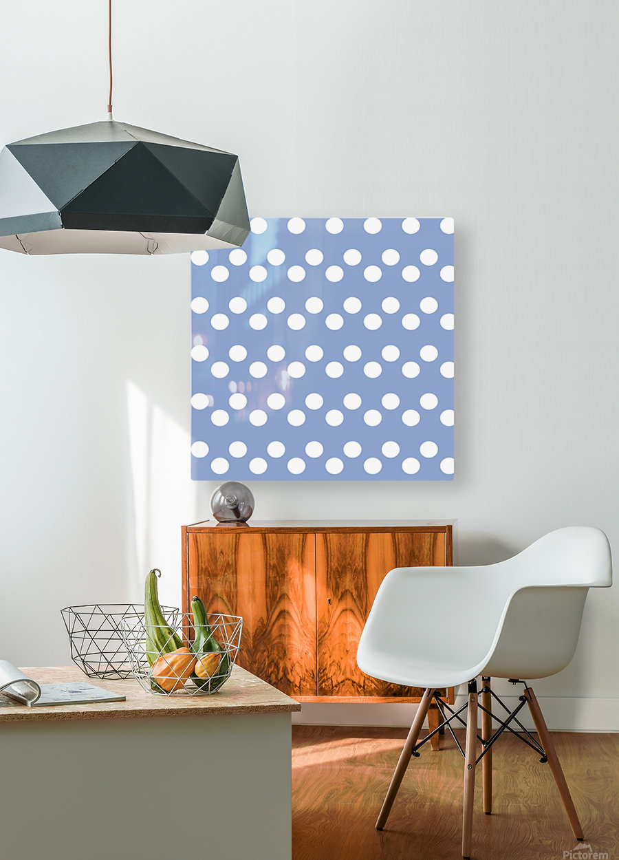 Serenity Polka Dots  HD Metal print with Floating Frame on Back