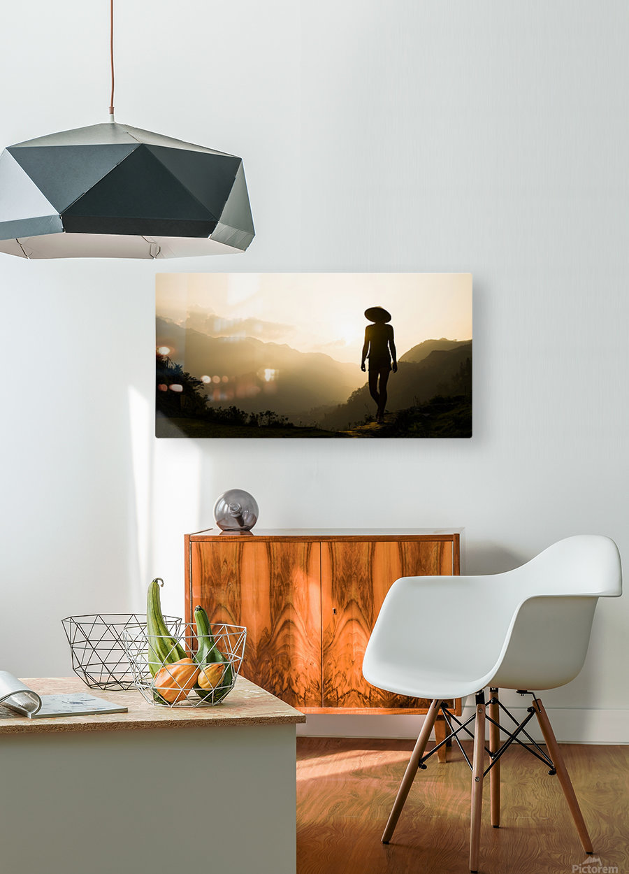 SILHOUETTE IN SAPA  HD Metal print with Floating Frame on Back