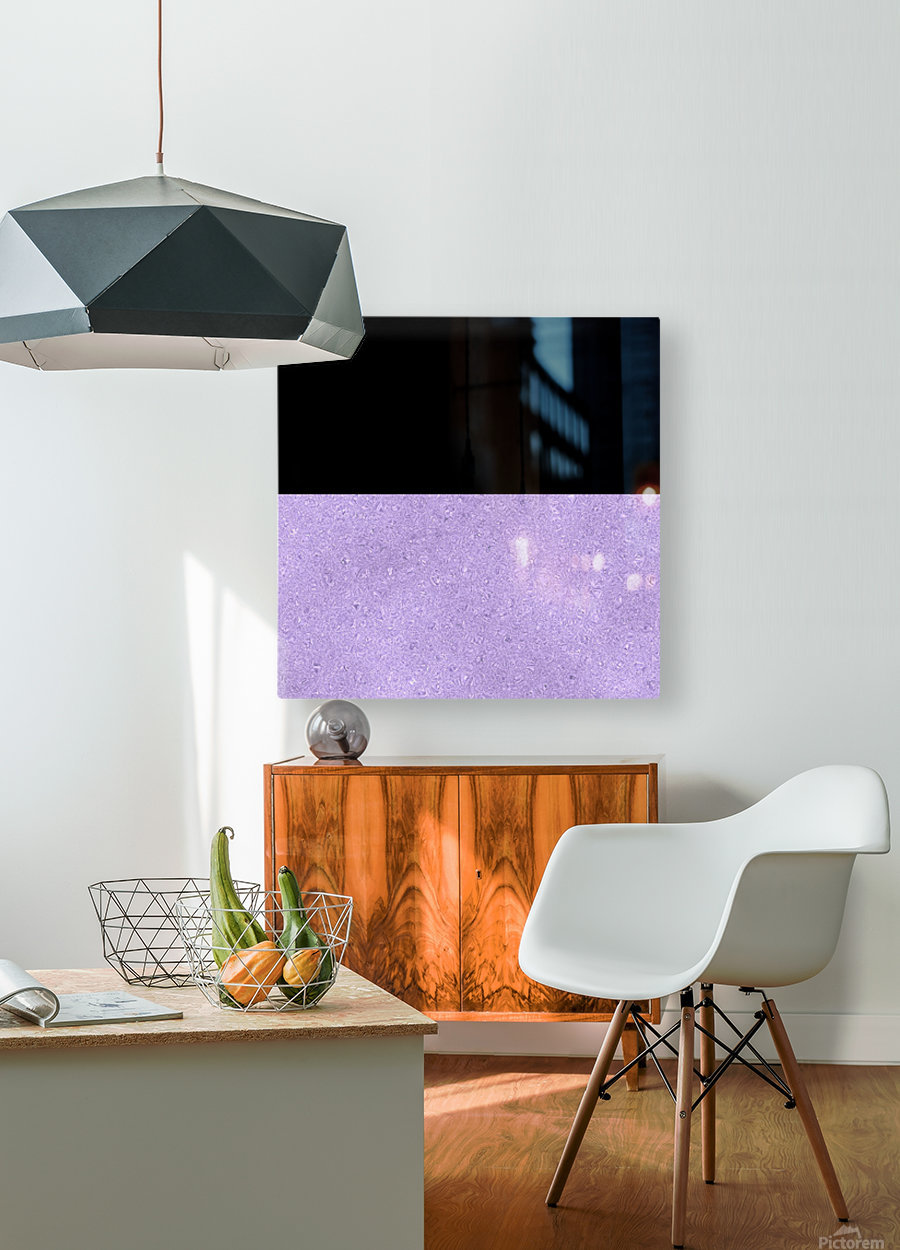 ABSTRACT PURPLE GLITTER  HD Metal print with Floating Frame on Back