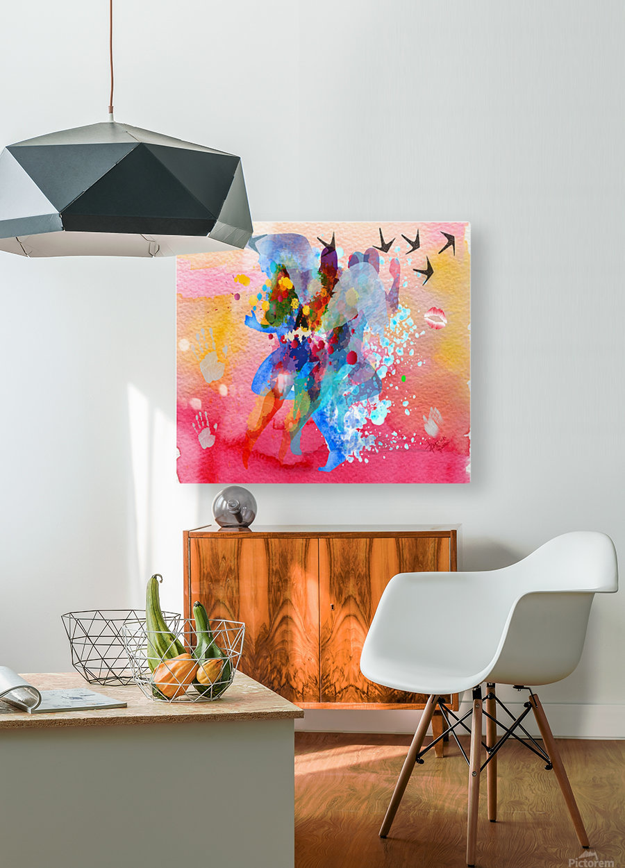 run through Duality of mind   HD Metal print with Floating Frame on Back