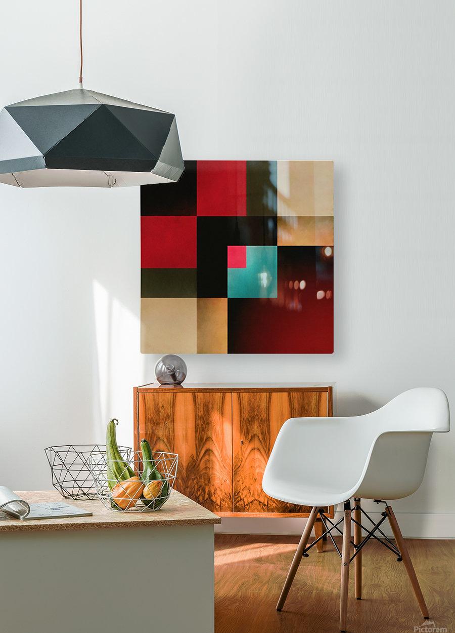 Composition Métropolitaine  HD Metal print with Floating Frame on Back