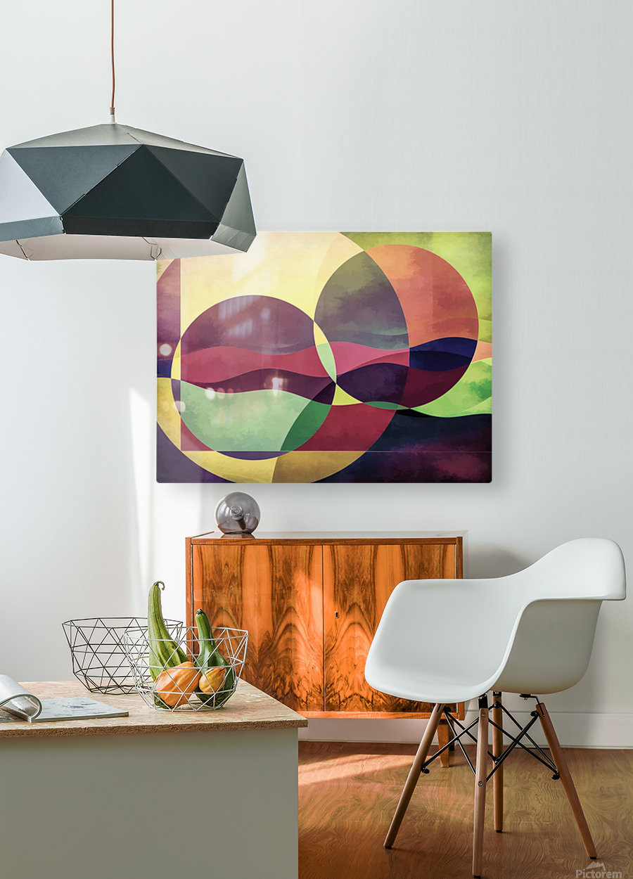 Middle Ground  HD Metal print with Floating Frame on Back