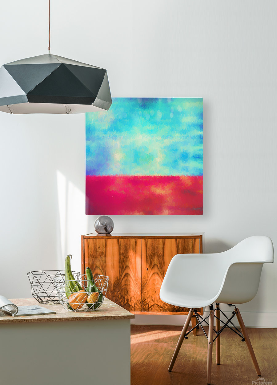Red Horizon  HD Metal print with Floating Frame on Back
