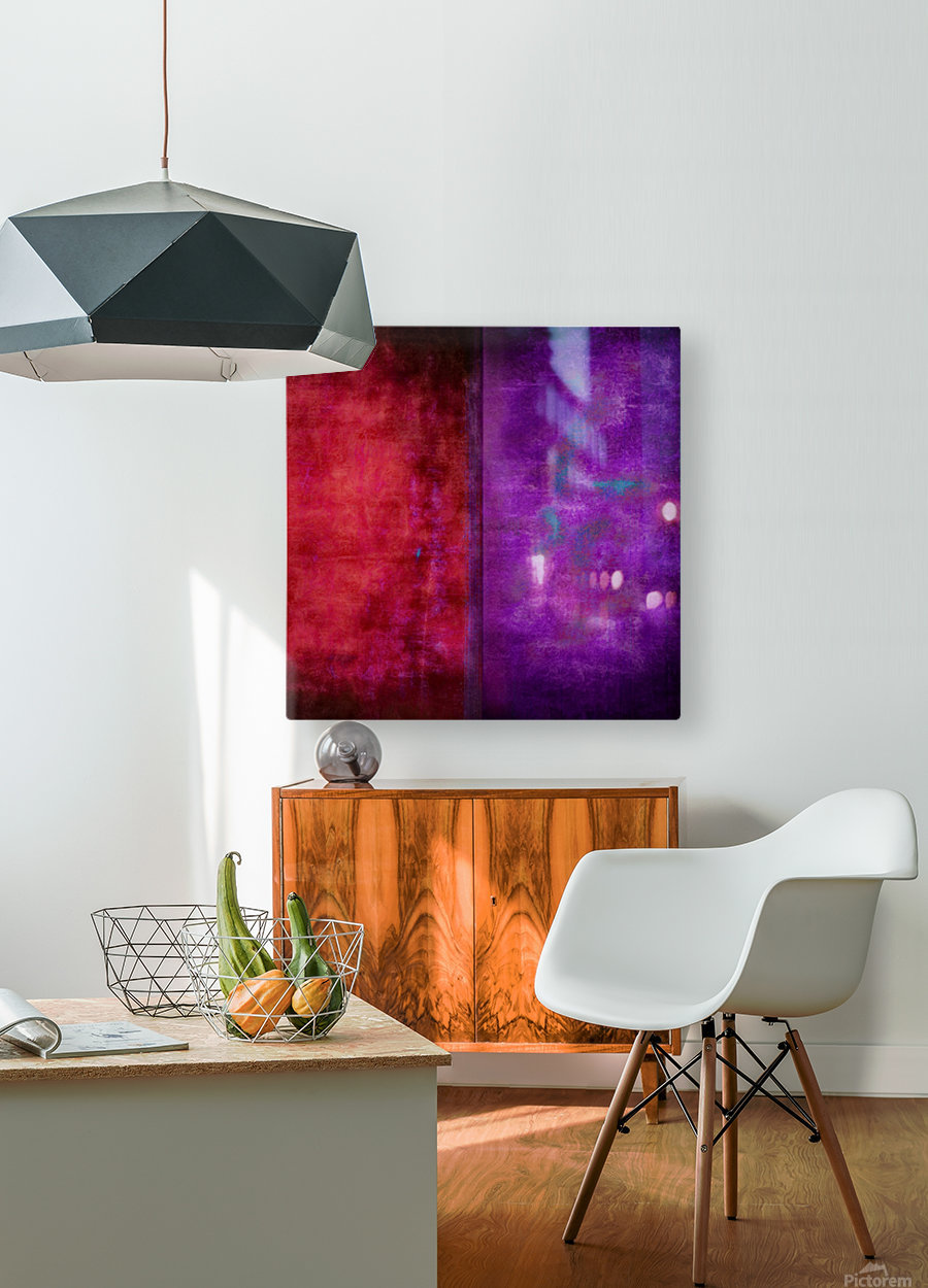Dualities  HD Metal print with Floating Frame on Back