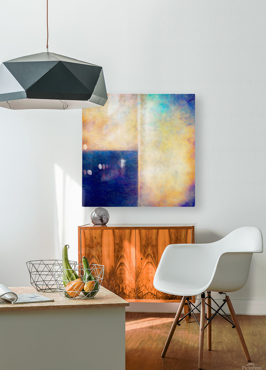 Blue Zone  HD Metal print with Floating Frame on Back