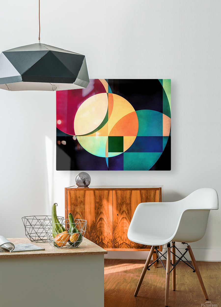 Composition Planétaire  HD Metal print with Floating Frame on Back