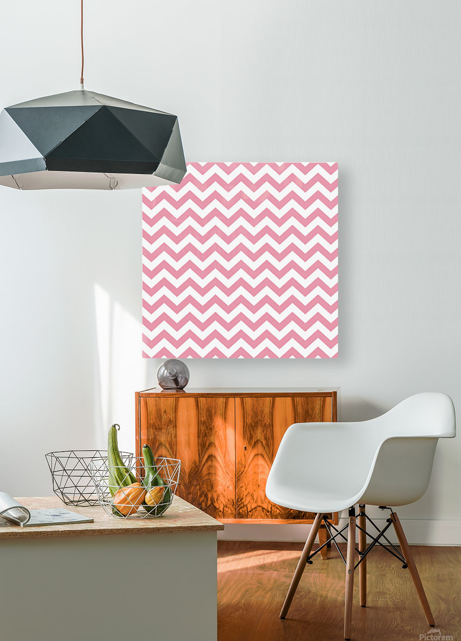 ICECREAM CHEVRON  HD Metal print with Floating Frame on Back