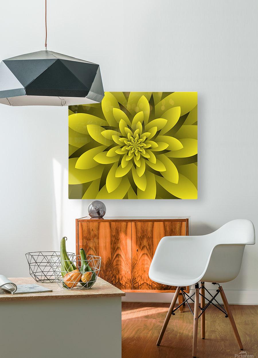 Spring Floral  HD Metal print with Floating Frame on Back