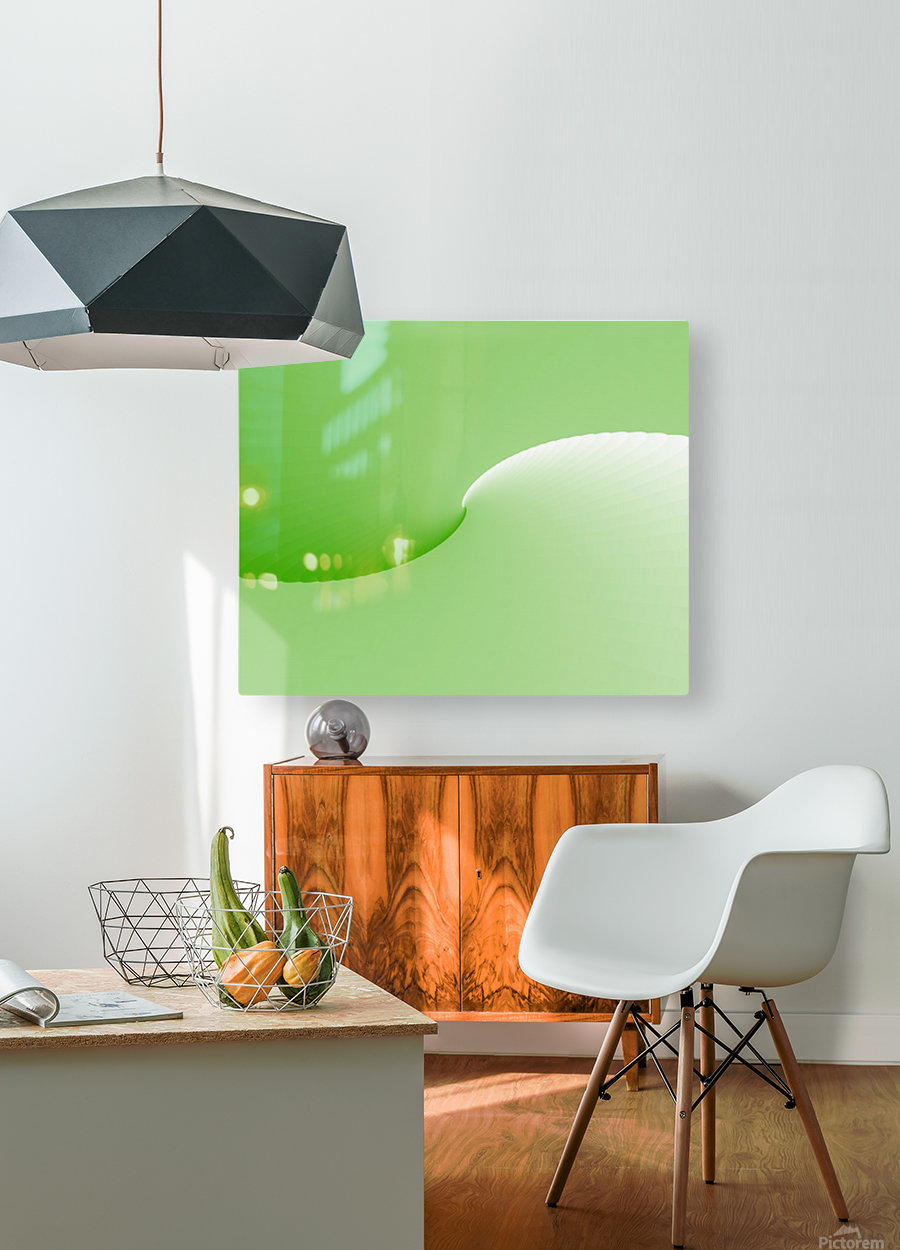 GREEN ABSTRACT  ORIGINAL  HD Metal print with Floating Frame on Back