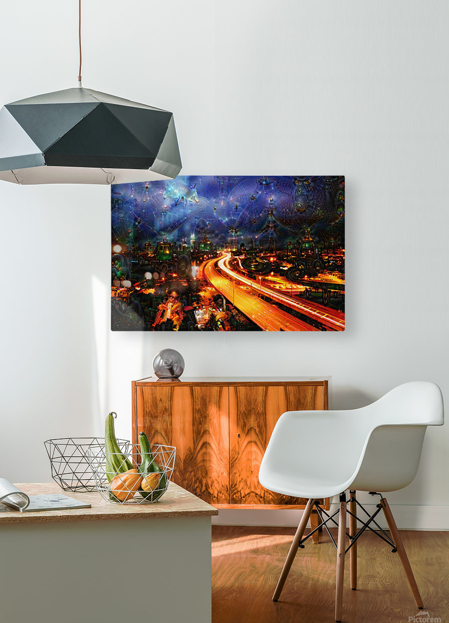 Midnight at the Ol Races  HD Metal print with Floating Frame on Back